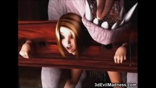 3D Girls Destroyed by Satanic Creatures!