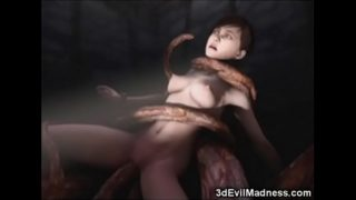 3D Girls Wrecked by Scary Tentacles