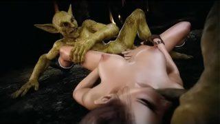 3D Lara Croft Ruined by Goblins!