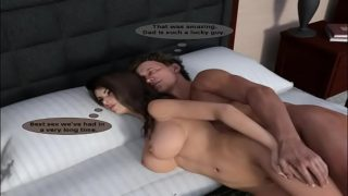 3d milf mom bit tit with son