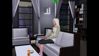 An Alien Gets Screwed In The Sims 3 By A Busty Blonde