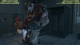Ashley Williams and Femshep fucked hard by depraved monsters in the Labroom 3D monster porn animation