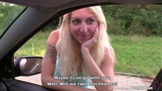 Bitch STOP – Blonde hooker picked up on Czech street