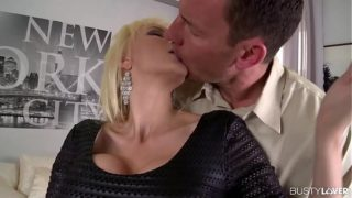 Busty lovers can't wait to watch blonde Sandra Star's asshole being fucked