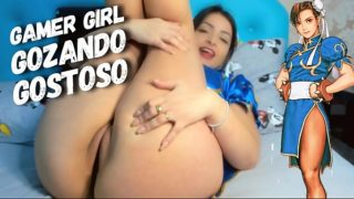 Chun-Li Street Fighter Gamer Girl Gozando Gostoso Jogando CRAVING QUEST – Gamer girl masturbating while playing http://www.eroges.com