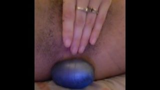 Egg Laying, Stretching Tiny Pussy So Wide