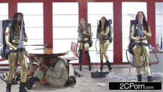 Ghostbusters Orgy – Ana Foxxx, Monique Alexander, Nikki Benz, Romi Rain