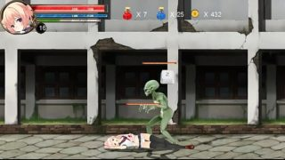Hentai Game Ryona Fighting girl Mei gameplay . Teen Girl in sex with aliens