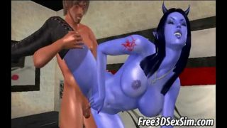 Hot 3D avatar alien sucks cock and gets fucked hard