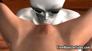 Hot 3D blonde babe getting fucked by an alien