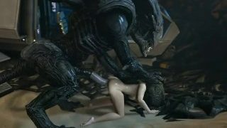 Huge dick alien fucking Samus Aran