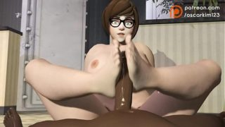 Mei footjob quickie