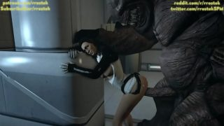 Miranda Lawson taking it from behind by Monster, 3d SFM porn