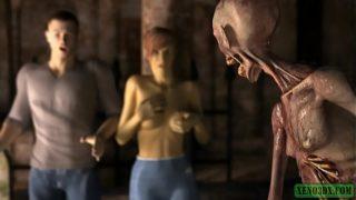 Nasty Skeleton. 3d porn horror
