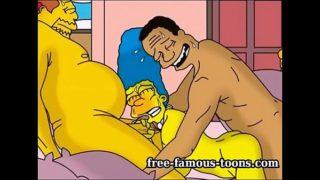 Simpsons  parody hentai hard sex