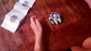 Star wars speed build from nice boobs sexy lady pov view