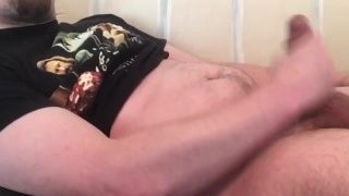 Stuffing Belly & Cumming Twice! Rubbing Cum on Stomach Bulge! Inflation