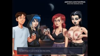 Summertime Saga[0.19.1] l Hot emo young girl is stripping off and showing her beautiful small tits and her gorgeous horny wet virgin petite pussy l My sexiest gameplay moments l Part #28