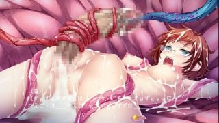 Tentacles Force Girl to Grow a Huge Dick, Just So They Have Another Hole to Fuck. She Cums While Having Her Penis Tortured.