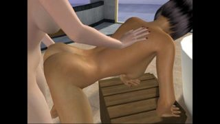 Two girls doggy style tribbing